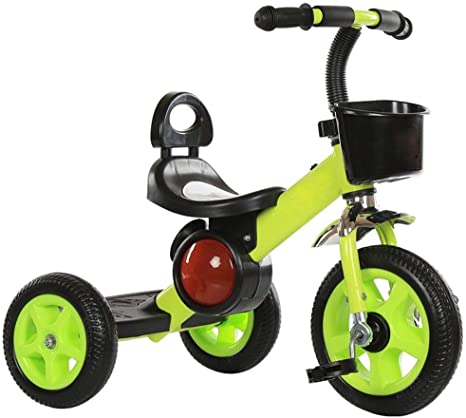 Daxiong Triciclo para niños, con música Bici del bebé de la Bicicleta de Juguete Cochecito para el 2 3 4 Años de Edad,Verde: Amazon.es: Deportes y aire libre
