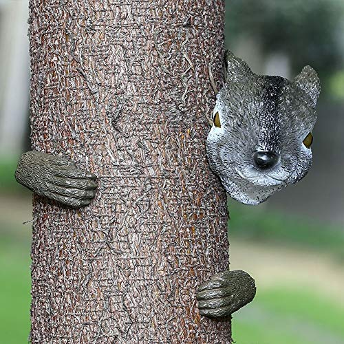 HTOOR Garden Squirrel Tree Hugger, Garden Yard Art Decoration and Outdoor Tree Hugger Sculpture by HTOOR