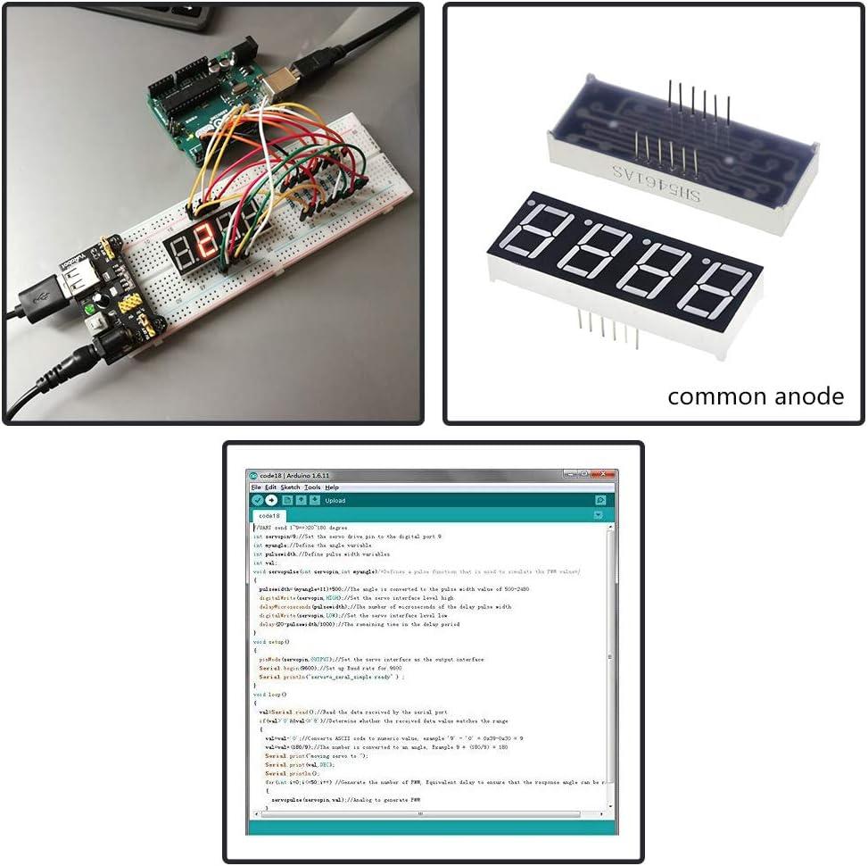 cable de puente y tablor para Arduino para NodeMCU Lua esp8266 para Raspberry Pi Kit electr/ónico para principiantes con m/ódulo de fuente de alimentaci/ón