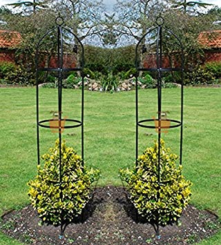 Superieur Unibos Set Of 2 Garden Obelisk Climbing Plants Support Roses Metal Arch  1.9m High Pair