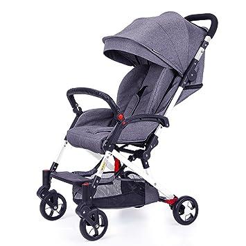 Cochecitos Qiangzi Carrito bebé Niño bebé Ultraligero portátil Puede Sentarse Puede mentir Abajo bebé niños Plegable