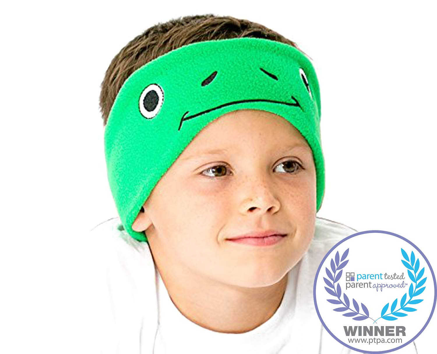 65856985533 CozyPhones Kids Headphones Volume Limited with Ultra-Thin Speakers Soft  Fleece Headband - Perfect Children's Earphones for Home and Travel - Green  Froggy