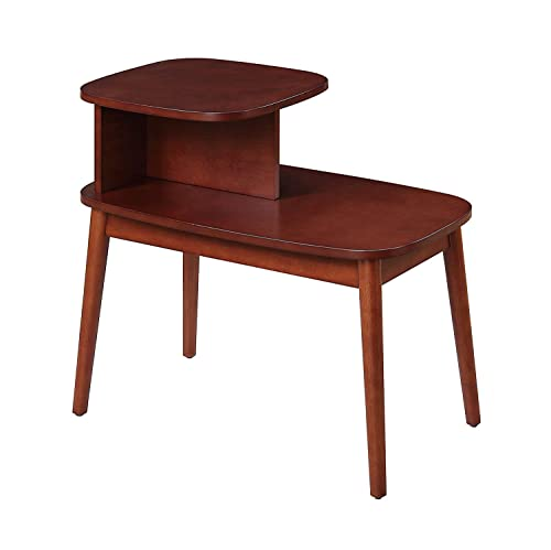 Convenience Concepts Maxwell Mid Century Accent End Table, Mahogany