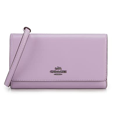 909a1b96ef Coach Smith Phone crossbody leather handbag dark lily purple bag new ...