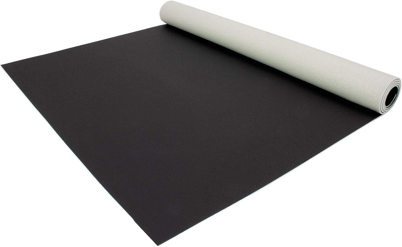 Einfarbig Reflektiert Nicht Uni Schwarz PVC Boden Meterware Vinyl Schwer Entflammbar 2,00m x 5,50m PVC Bodenbelag EXPOTOP Profi Vinylboden