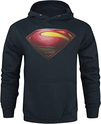 Superman Man Of Steel Hommes Sweat À Capuche