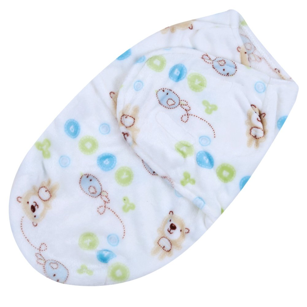 Domybest Baby Swaddle Wrap Newborn Blanket Sleepsuit Sleeping Bag for 0-6 Months Boys Girls (Elephant)