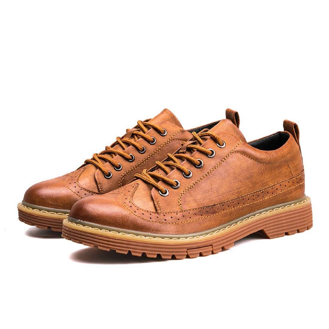 Uomo Il nuovo Moda Tempo libero scarpe di pelle Scarpe da lavoro Attività commerciale Scarpe casual Fondo spesso Scarpe antiscivolo euro DIMENSIONE 39-44 , Black , 43