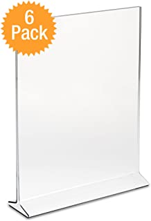 DisplayPros Displaypros 5 X7  Acrylic Sign Holder Clear Plastic Table Menu Holder  sc 1 st  Amazon.com & Amazon.com: Marketing Holders Sign Holder 5x7 Acrylic Table Top ...