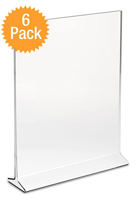 Amazoncom Displaypros X Acrylic Sign Holder Clear Plastic - Plastic table tent holders