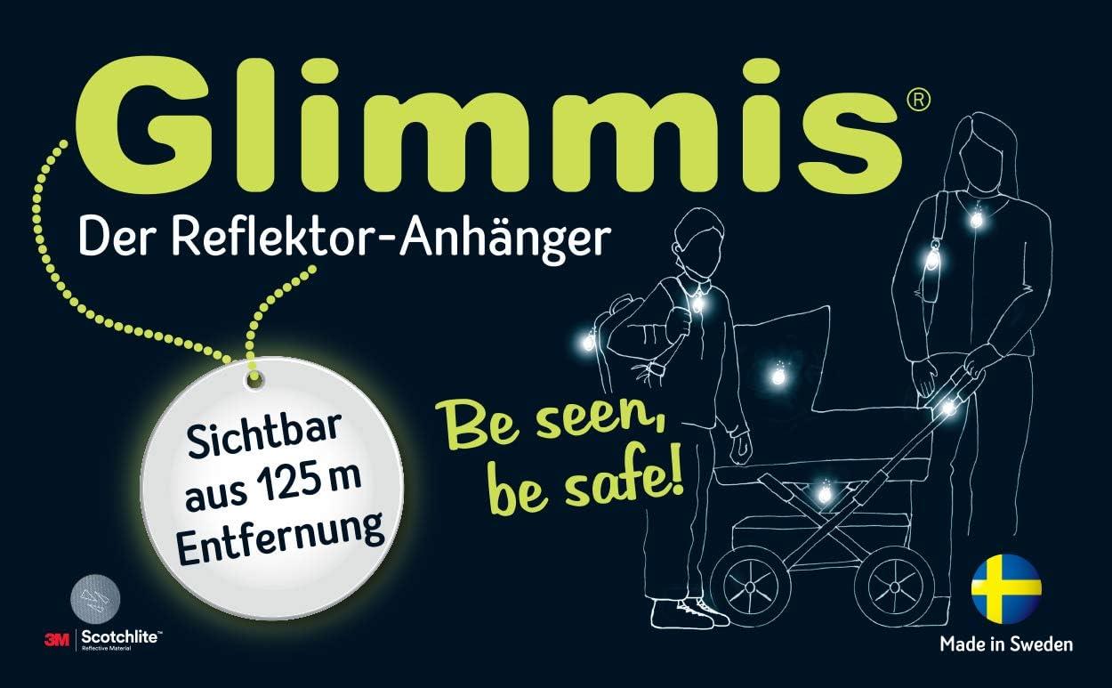 Beidseitig reflektierend Anh/änger Einheitsgr/ö/ße moses bunt Jungen Glimmis Reflektor Feuerwehrauto