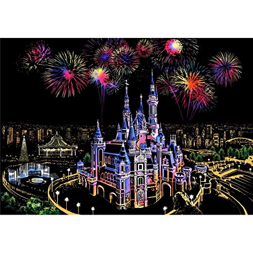 5D DIY Diamond Painting Full Drill Cross Stitch Kit Diamond Painting Number Kits Embroidery Art for Adults Castle and Fireworks 15.7 × 11.8in 1 Pack by ()