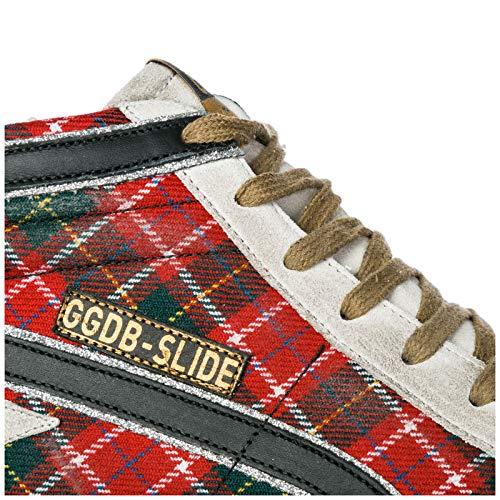 Slide Chaussures Baskets Femme en Golden Hautes Sneakers Goose Rouge Bv7Uq