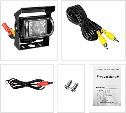 120 Degree Wide View Car Rearview Camera Waterproof  HD LED Night Vision