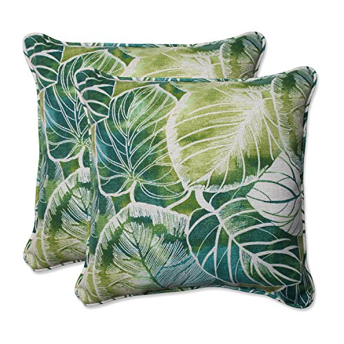 Pillow Perfect Outdoor/Indoor Key Cove Lagoon Throw Pillow (Set of 2), 18.5""