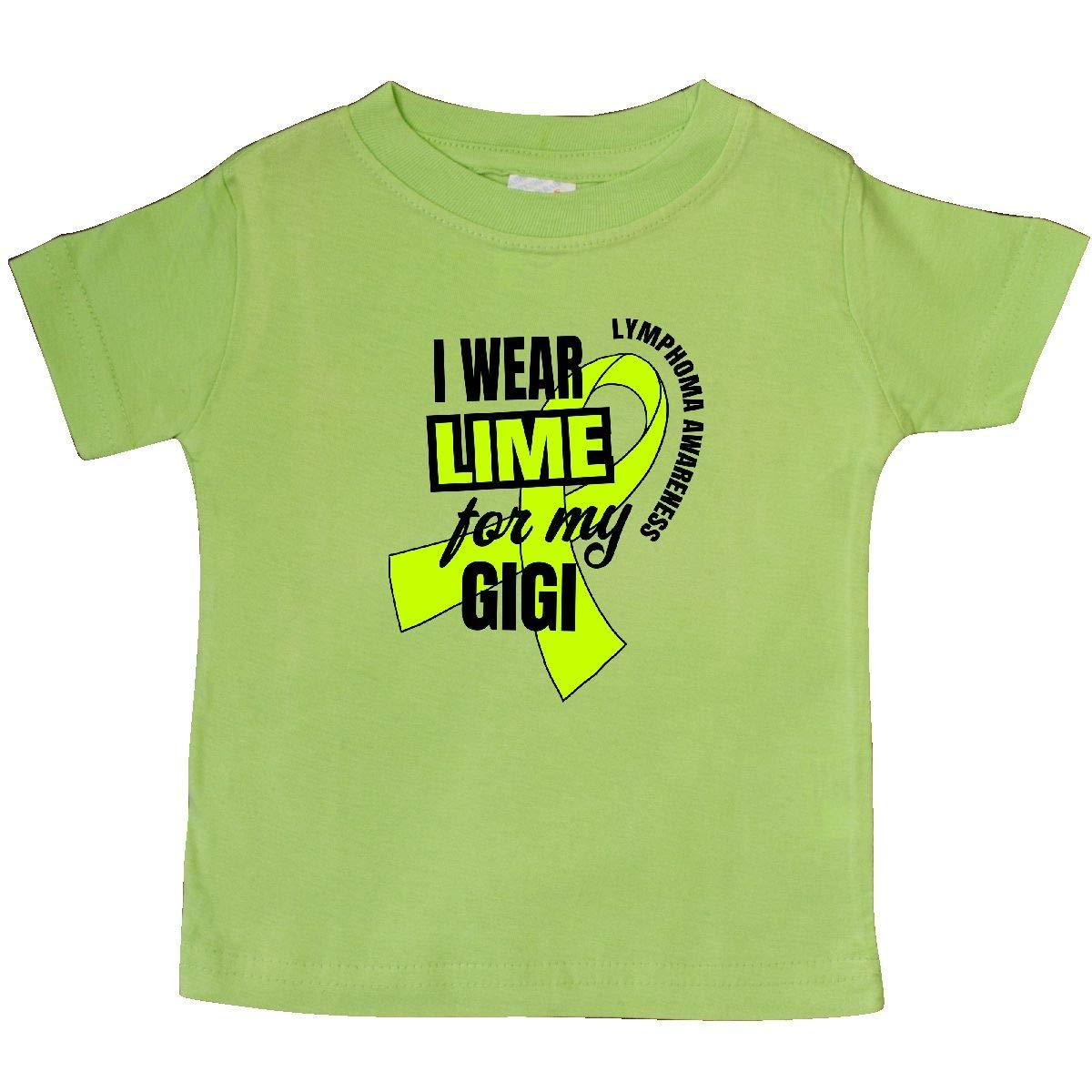 inktastic I Wear Lime for My Gigi Lymphoma Awareness Baby T-Shirt
