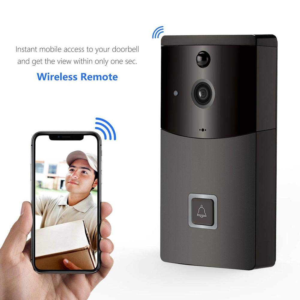 WIFI Smart Video Doorbell, 170° Super Wide Angle 720P HD Wifi Security Camera PIR Motion Detection and Smart APP Remote Control for IOS & Android Moonlovey