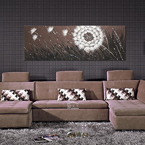 IARTS Wall Decoration Modern Design Landscape Dandelion Oil Painting on Canvas Wall Poster 3D Art (Unstretch No Frame)