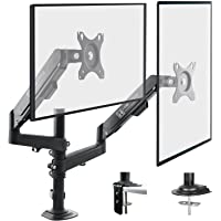 HEYMIX Dual Monitor Arm Adjustable Computer Stand Gas Spring Arm VESA Mount Full Motion Aluminum Structure with 2…