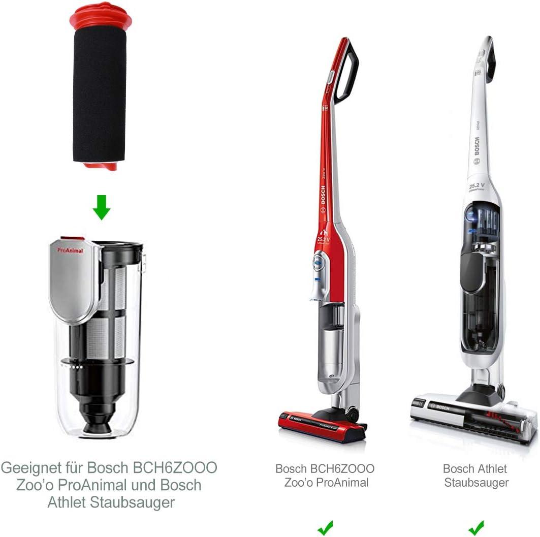2 pcs Filtro para aspiradora Bosch, 2 pcs filtro de repuesto ...