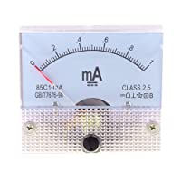 Klasse 2,5Genauigkeit DC 0–1mA Analog Current Panel Meter Amperemeter 85C1-ma
