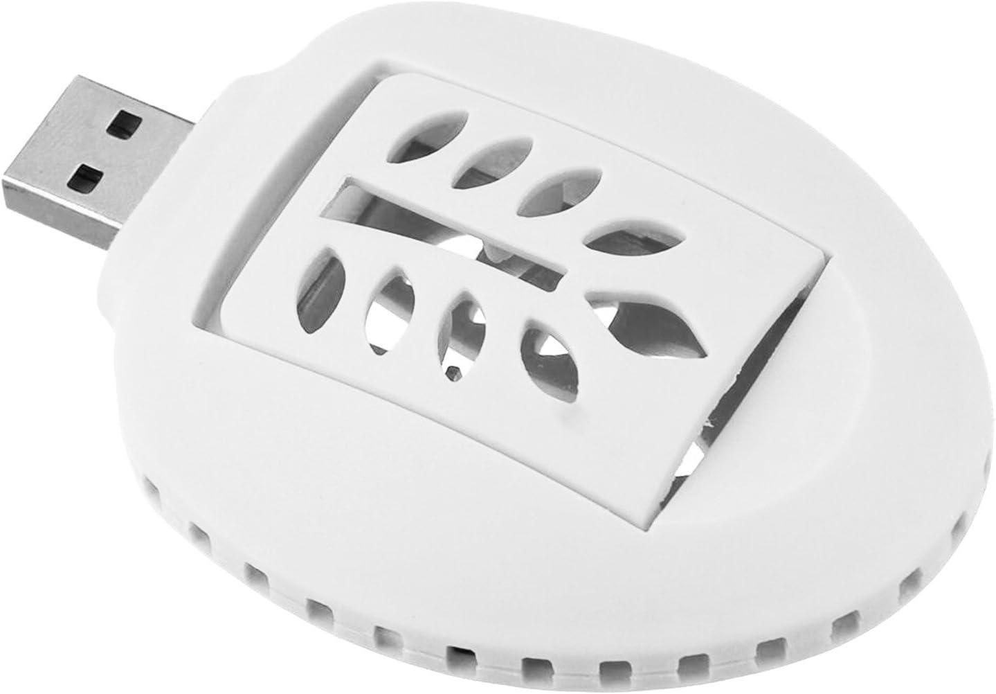 Gosear Portátil USB eléctrico Mosquito Repelente del Incienso de Mosquitos plagas Insectos (Blanco)
