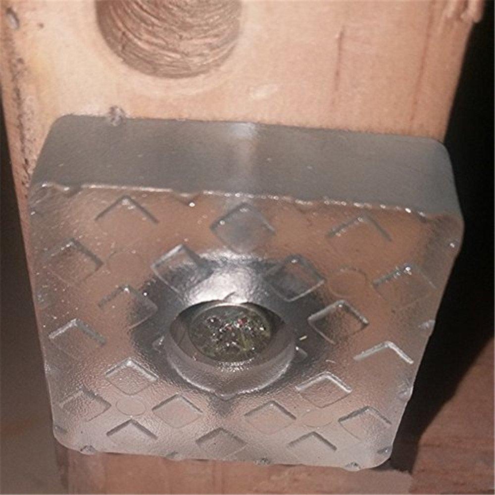noir R/éduction du bruit Protection des planchers en bois Patins carr/és en caoutchouc souple Patin pour pieds de meubles