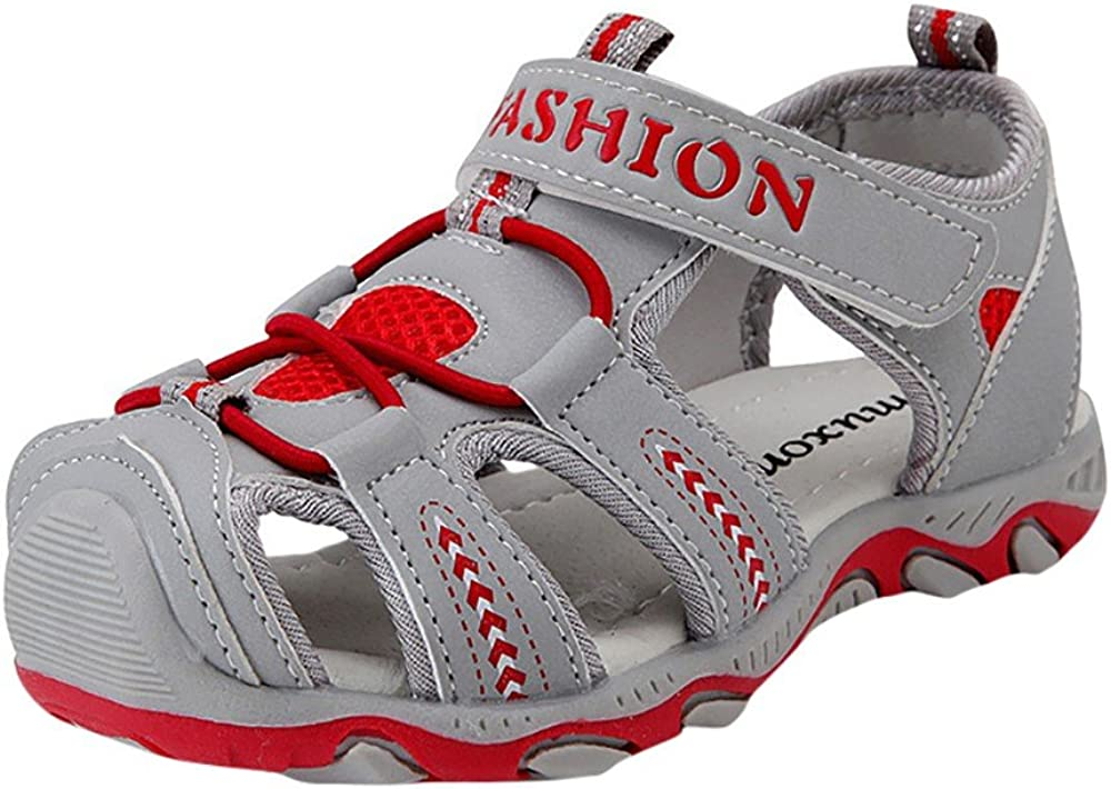 ❤️️ Mealeaf ❤️️ Toddler/ Kids Shoes Baby Boy Girl Closed Toe Summer Beach Sandals Shoes Sneakers 3-15 T Red