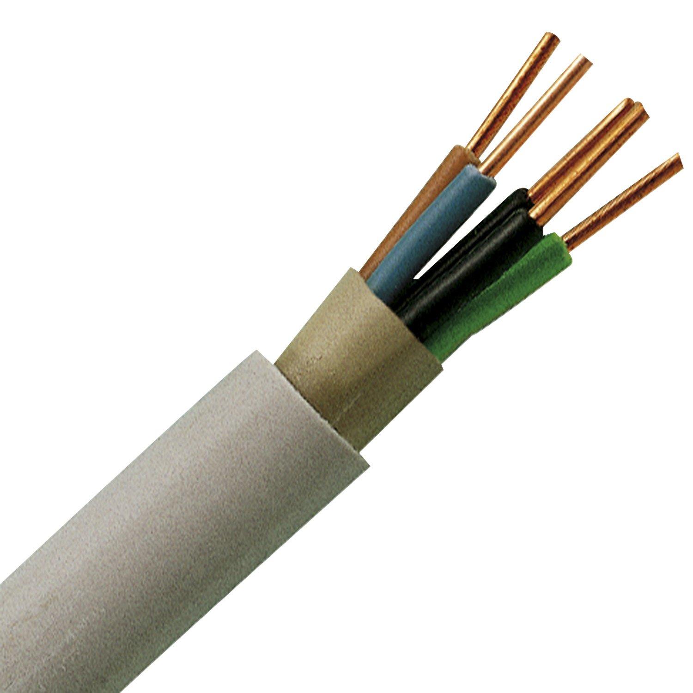 Kopp 153050848 Mantel-Leitung NYM-J, 5 x 1.5 mm², 50 m, grau: Amazon ...