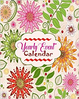 amazon com yearly event calendar personal event tracker