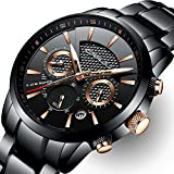 CRRJU Mens Stainless Steel Watches Date Casual Wrist Review and Comparison