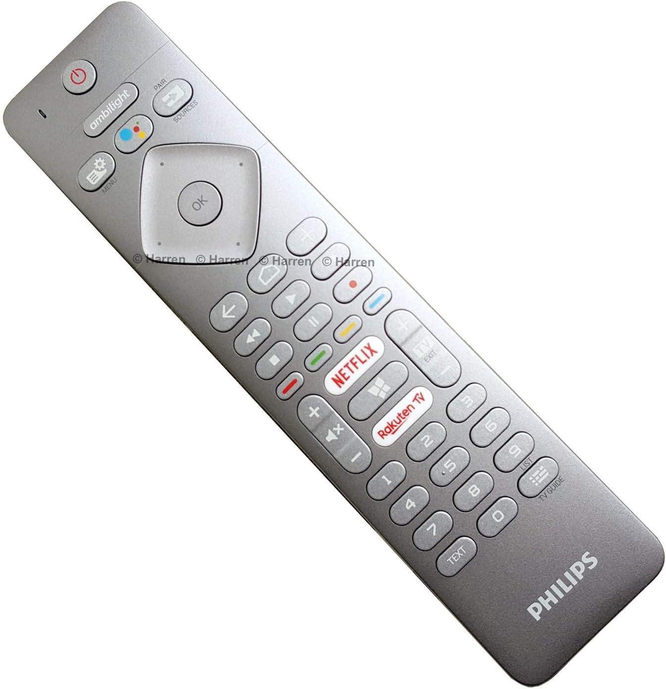 Philips RC4154401/01R 996599002217 Control Remoto por Voz Original con para televisores LED Android Ambilight 2018 2019: Amazon.es: Electrónica