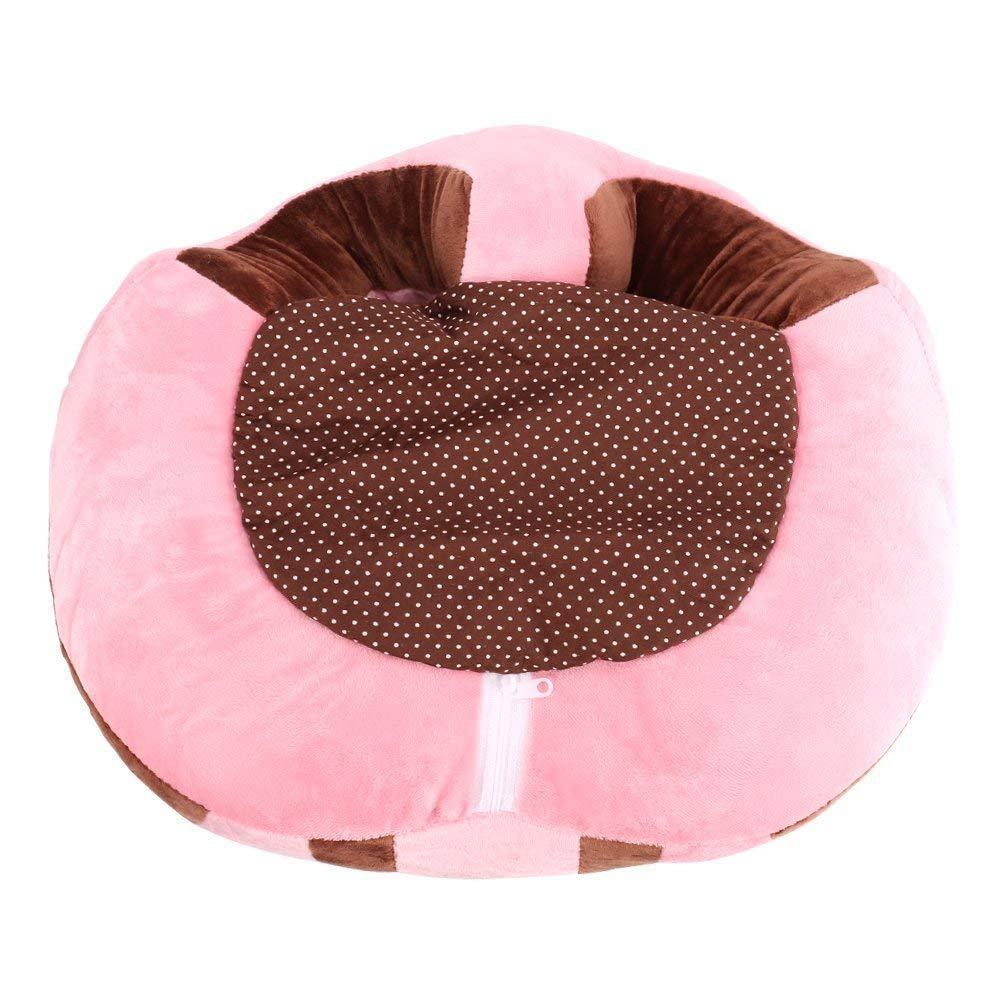 Flyinghedwig Baby Support Seat Sofa Cover Animal Shaped Baby Learning to Sit Chair Keep Sitting Posture Comfortable for 0-12 Months Baby