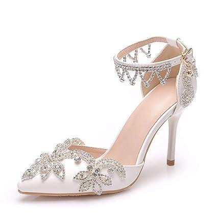c0ed9c9e81081 Amazon.com: CJJC Tassel Rhinestone Wedding Shoes for Women,Fashion ...