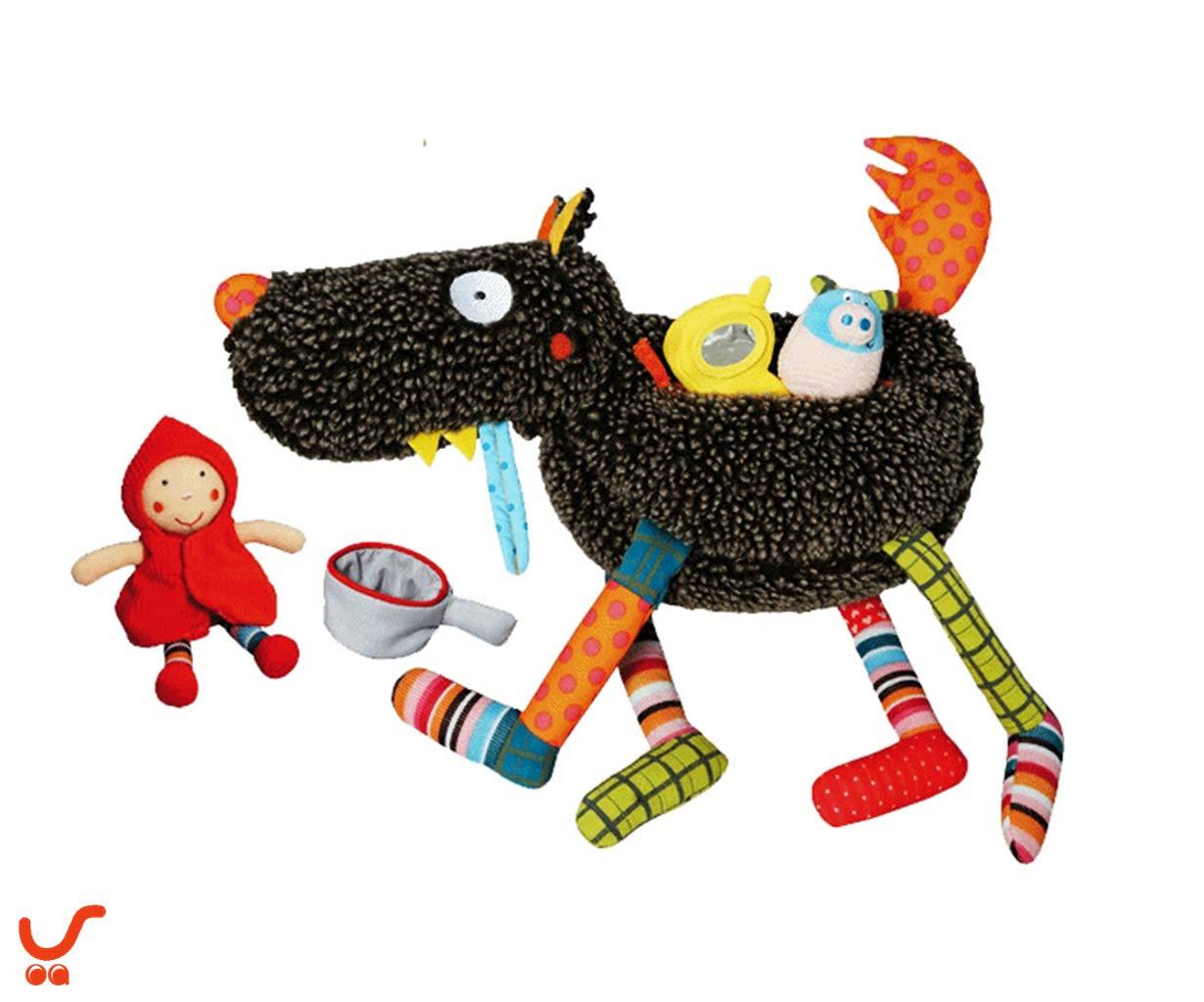 【エブロボ ] Ebulobo Crazy Wolf LouLoup&4 Toys, おおかみルールーぬいぐるみセットE10001 , フランスの高級品ベビードール[並行輸入品]-JOALIST   B07THWHT6T