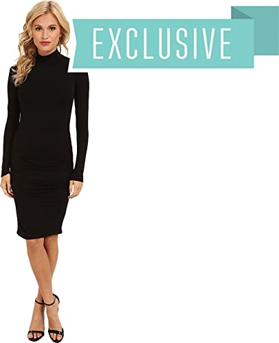 Michael Stars Womens Exclusive L/S Turleneck Dress w/ Shirring