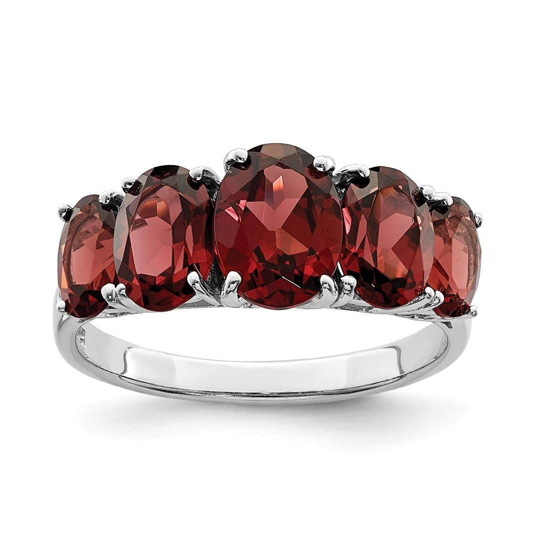 ICE CARATS 925 Sterling Silver Red Garnet Band Ring Size 8.00 Stone Gemstone Fine Jewelry Ideal Gifts For Women Gift Set From Heart
