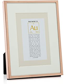 philip whitney 6x84x6 picture frame thin rose gold