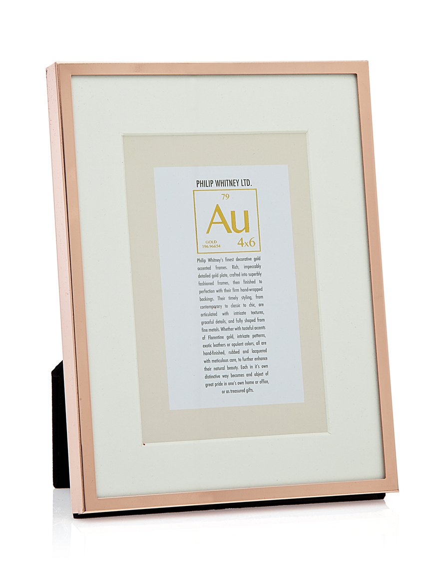Amazon.com - Philip Whitney 6x8/4x6 Picture Frame Thin Rose Gold -