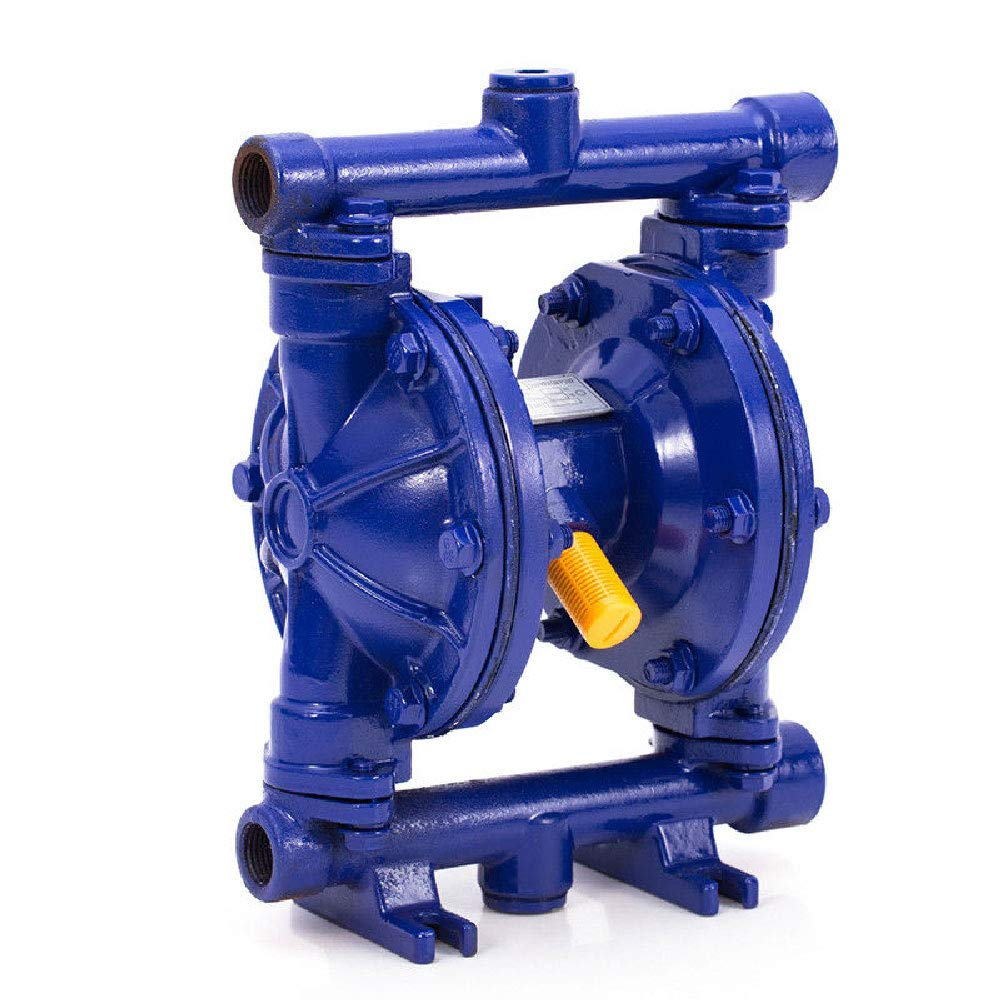 DOMINTY 12 GPM Air-Operated Double Diaphragm Pump Cast Iron 115 PSI 1/2'' Inlet &Outlet 1/4'' Air Inlet Low Viscosity Petroleum Fluids
