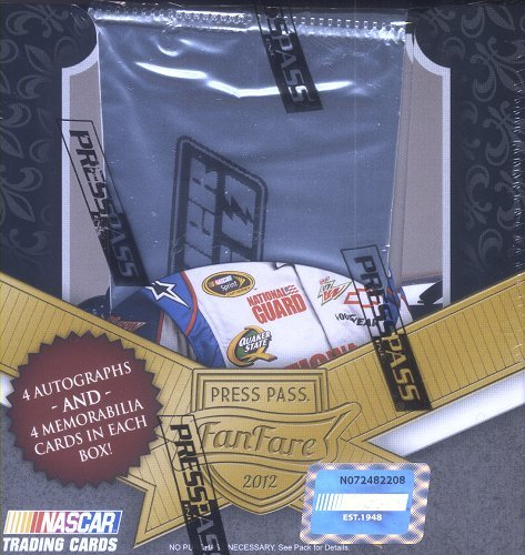 (2012 Press Pass Fanfare Racing Hobby Box)