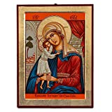Theotokos (Mary) with Jesus Virgin Mary Donskaia Greek Painted Icon