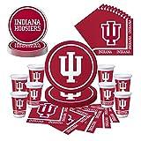 Indiana University Hoosiers Party Bundle - Plates, Cups, Napkins