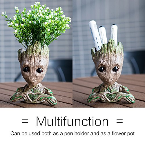 lugongjiaju Groot Action Love Figures Guardians of The Galaxy Flowerpot Baby Fashion Cute Model Toy Pen Pot Best Gifts 5.51 inch