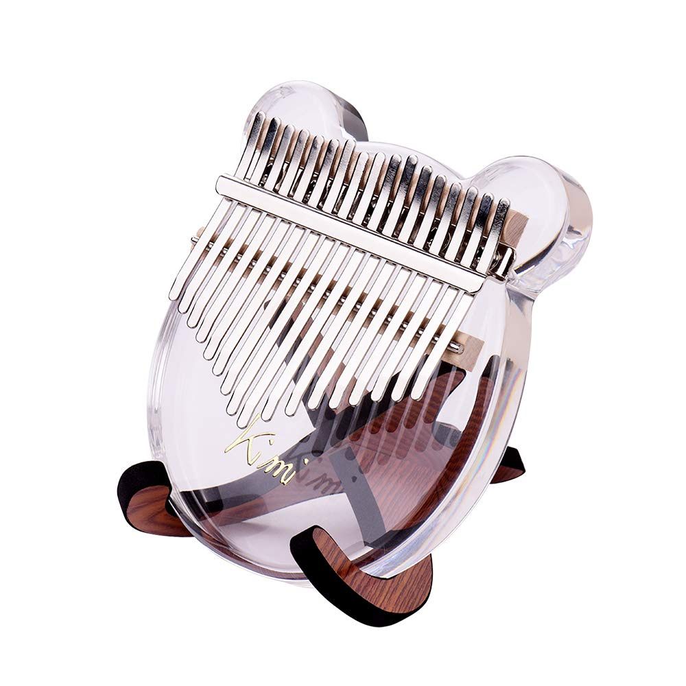 Kalimba,Mbira,17-Key Thumb Piano Transparent Acrylic Material + Wooden Stand Holder for 10-key 17-key Kalimbas