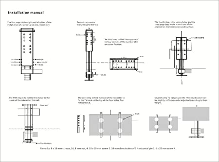 Chaneau - Soporte motorizado para televisor, 220 V, soporte para televisión de 34 a 42 pulgadas, elevador de TV: Amazon.es: Electrónica