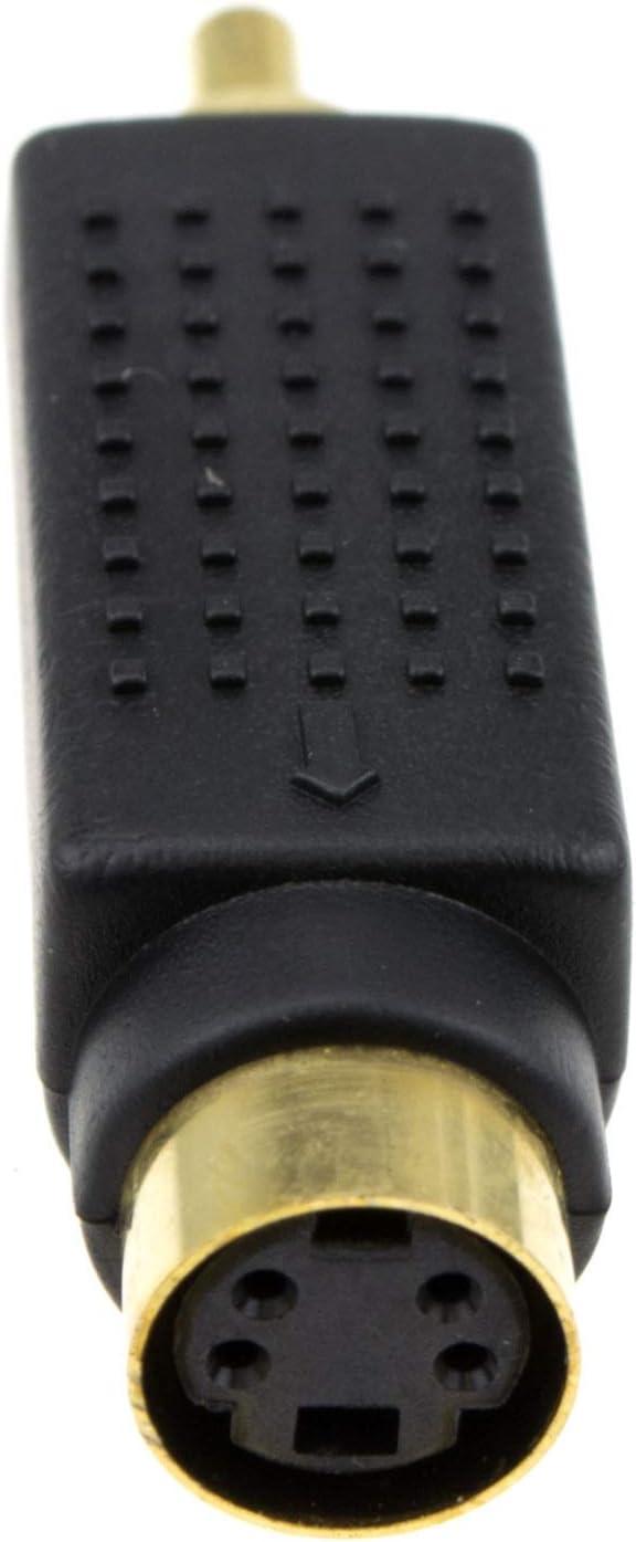 kenable SVHS 4 Broches s Vid/éo vers Composite RCA Cinch Onvertisseur Adaptateur Plaqu/és Or