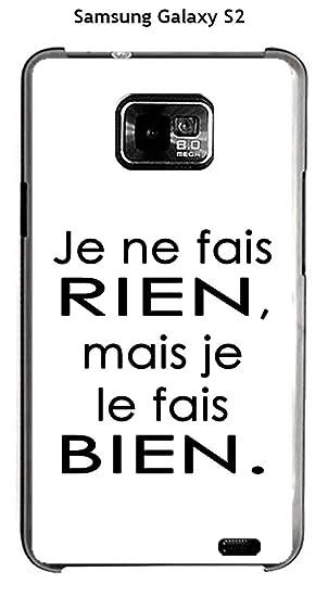 Onozo Carcasa Samsung Galaxy S2 diseño citación Je ne fais ...