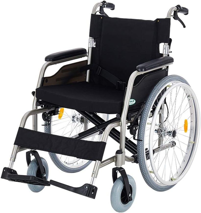 Sillas de ruedas- Transportable silla de ruedas ligera for personas obesas - Ensanchamiento 19.7