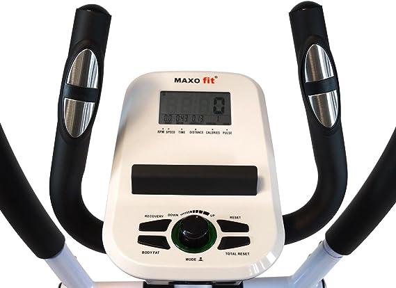 Heimtrainer Ergometer mit Trainingscomputer 8 einstellbare Widerst/ände MAXOfit/® MF-20 Crosstrainer Ellipsentrainer bis 110kg belastbar